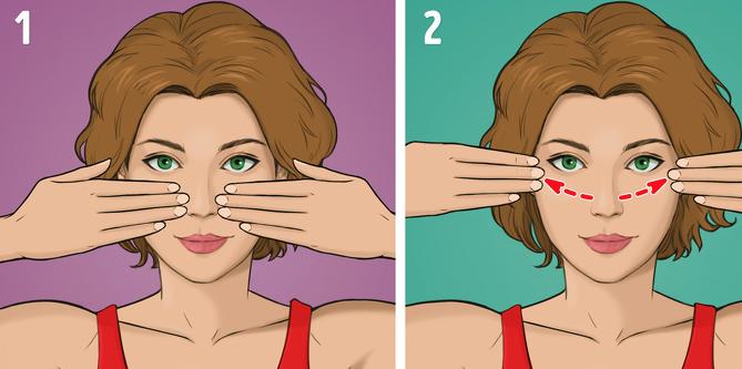 Горизотнальный массаж щек