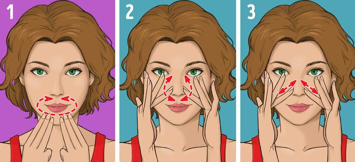 Контур губ и носа